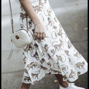 H&M Monkey King Pleated Midi Skirt